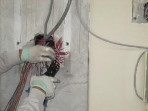 火災報知盤移設工事 A02
