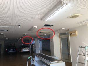 名古屋市名東区のビル店舗にてアンペア減設工事
