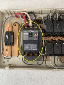 名古屋市港区の戸建て住宅にて漏電ブレーカの取替電気工事