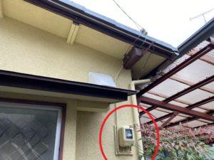 名古屋市中川区の戸建住宅にてアンペア増設電気工事
