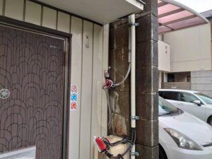 名古屋市東区の戸建住宅にてメーター板の取替電気工事
