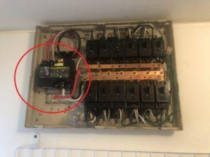 名古屋市天白区の戸建住宅にて漏電ブレーカーの取替電気工事