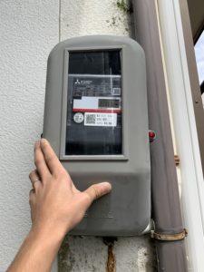 名古屋市南区の戸建住宅にてメーター板及びメーターボックスの取替電気工事