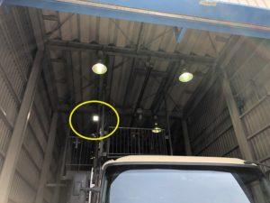 名古屋市港区の倉庫にて水銀灯の取替電気工事(LED水銀灯)