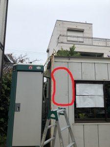 名古屋市中川区 仮設電源引込口配線、分電盤取付の電気設備工事