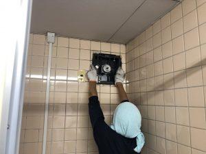 名古屋市港区 壁付の換気扇を取替する電気設備工事