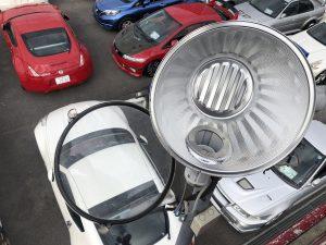 名古屋市名東区にて店舗駐車場の水銀灯を交換しました!
