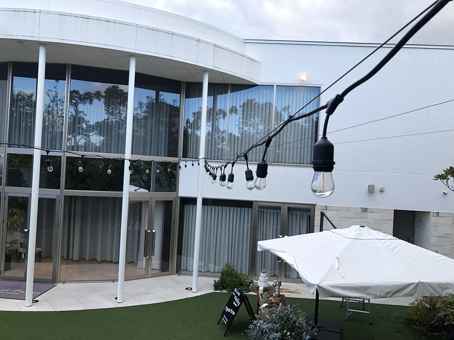 愛知県豊田市 LED提灯増設取付の電気工事 結婚式場にて