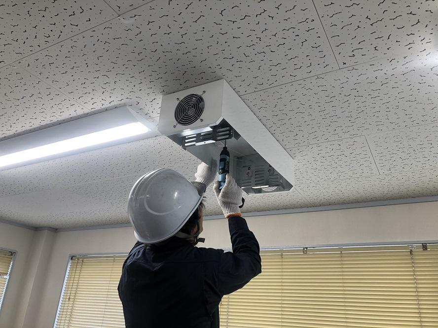 名古屋市港区にてオフィス天井に殺菌灯取付の電気設備工事