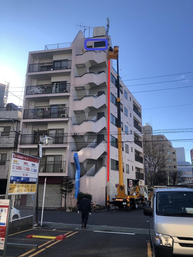 名古屋市東区にてエレベータ用電線改修の電気設備工事